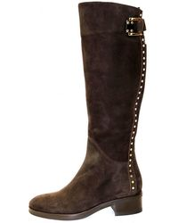 Le Pepe Women's A624467 Stud Knee High Brown Boot