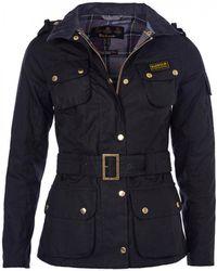 Barbour Ladies International Wax Jacket - Black