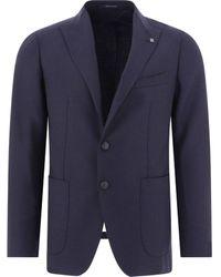 Tagliatore - Men's 1smc26k34uig309b1393 Blue Wool Blazer - Lyst