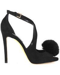 Nina Lilou Ninalilou Gwen Lapin Black Sandal 37.5
