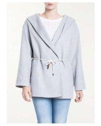 Fabiana Filippi Ct72217 Woolen Hooded Parka Coat - Gray