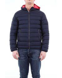 Colmar Short Matte Down Jacket With Hood - Blue