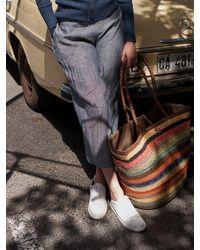 Nrby Chloe Linen Wide Leg Trouser - Blue
