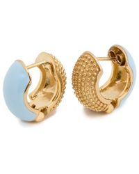 Coco & Kinney Baby Blue Reversible Barbara Lynns In Gold
