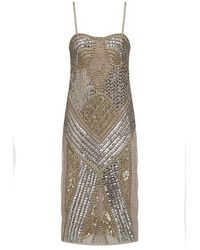 Frock and Frill Starlet Embellished Bodycon Dress - Metallic