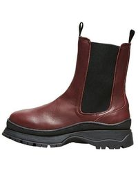 SELECTED Lucy Leather Chelsea Boot Winetasting - Multicolor