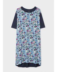 Paul Smith Outlet Summer Chills Jersey Dress - Blue
