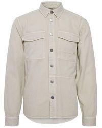 Blend Ambitious Denim Overshirt Cream - Natural