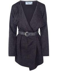 Haris Cotton Draped Wool-blend Cardigan - Black