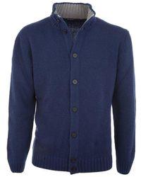 Ones Men's 4055m714756714969 Blue Wool Cardigan