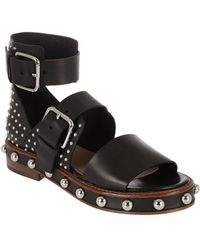 RED Valentino - Sandal In Black Leather - Lyst