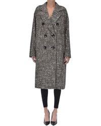 Max Mara Atelier Teatino Double-breasted Coat - Brown