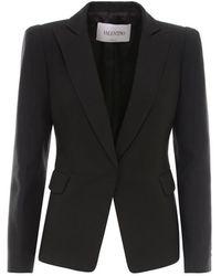Valentino Silk Blazer - Black