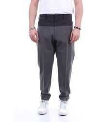 PT01 Men's To99rfz0ze0cubgrigioscuro Grey Wool Pants