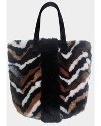 Urbancode Urban Code Faux Fur Shopper Multi Tiger - Brown