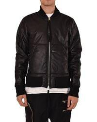 Thom Krom Bomber In Eco-leather - Black