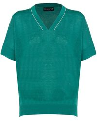 Sei Sette 57 Cotton Polo Shirt - Green