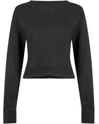 Lilybod Suzy Graphite Sweatshirt - Black