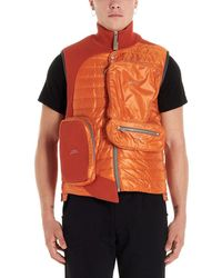 A_COLD_WALL* - A-cold-wall* Men's Acwmf19cnb04orange Orange Polyamide Vest - Lyst