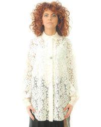 8pm Maxi Shirt In White Lace - Multicolor