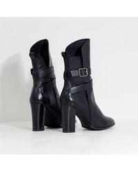 Henry Kole Vic Leather Black