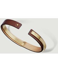 Ursul Leather Bracelet Uraeus Matt Brass - Metallic