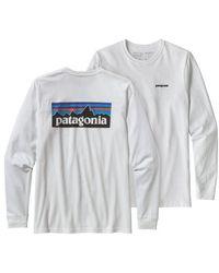 Patagonia T P-6 Logo Responsibili L / S - White
