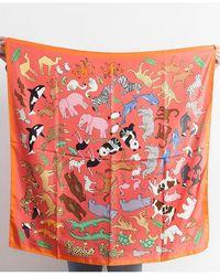 Karen Mabon Noah's Ark Silk Scarf - Multicolour
