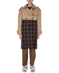 Marni Double-breasted Trench - White