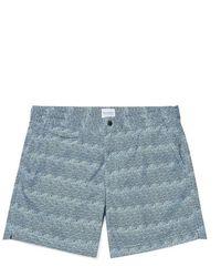 Sunspel Swimshort - Japanese Block Print Light Blue