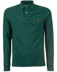 Ralph Lauren Men's 710681126022 Green Cotton Polo Shirt