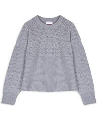 Cocoa Cashmere Layla Gray Sweater