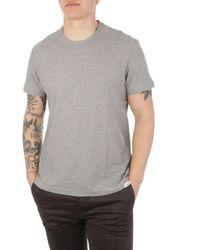 Brooksfield Men's 200aj049v0034 Gray Cotton T-shirt