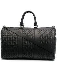 Bottega Veneta Men's 650066v0e518803 Black Leather Travel Bag