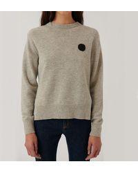 Loreak Mendian Knit Dot Jumper - Ecru - Multicolour