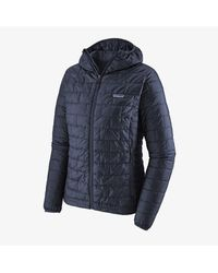 Patagonia Women's Nano Puff Hooded Jacket - Blue
