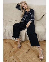 Lily and Lionel Mystic Palm Gina Top - Black