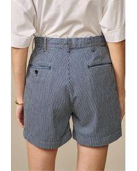 Bellerose Plek Stripe Shorts - Blue