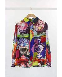 Weekend by Maxmara - Weekend By Maxmara Rail Pop Art Silk Shirt - Lyst