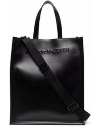 Alexander McQueen Leather Briefcase - Black