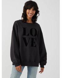 South Parade Alexa Smoke 'love' Sweatshirt - Black