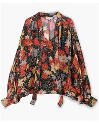 Lily and Lionel Midnight Floral Jess Top - Multicolour