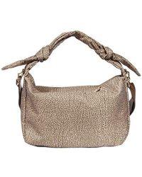 Borbonese - Women's 933375i15994 Beige Polyester Shoulder Bag - Lyst