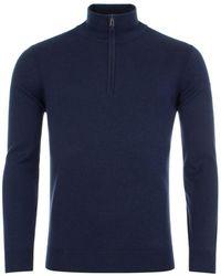 Belstaff Bay Half Zip Sweater - Blue