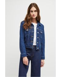 French Connection Macee Micro Denim Jacket - Blue
