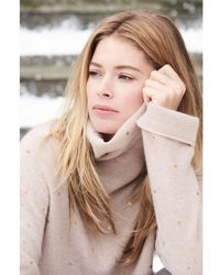 Repeat Cashmere Golden Dot Cashmere Sweater - Natural