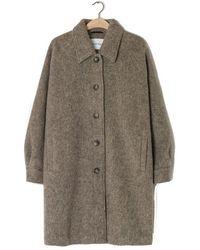 American Vintage Zalirow Coat - Wolf Melange - Multicolor