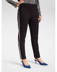 Sandwich Bonn Relaxed Fit Trouser With Side Panel - Black