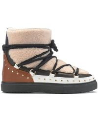 Inuikii Trainer Curly Rock Cream Boots - White