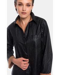 8pm Shirt Faux Leather - Black